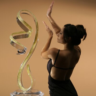 Sculptures and Art Pieces Acrylic Vertical Wave Sculpture by Shahrooz