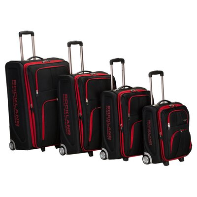 4 Piece Upright Luggage Set by Rockland Polo Equipment