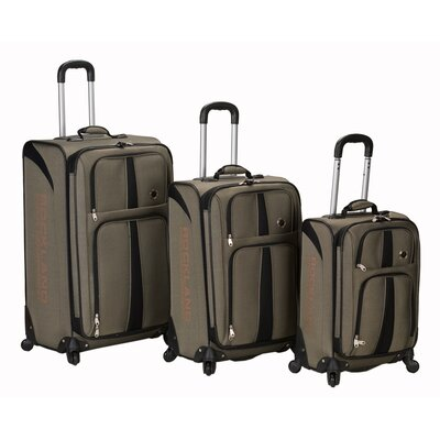 Eclipse 3 Piece Spinner Luggage Set by Rockland Polo Equipment