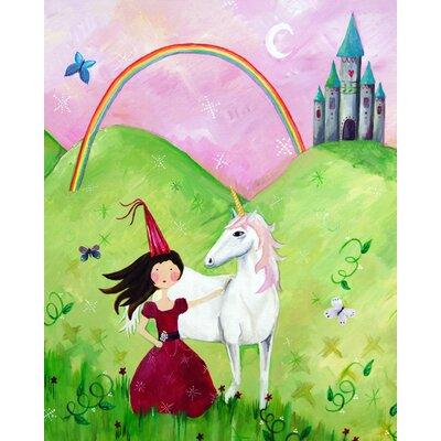Cici Art Factory Wit & Whimsy Princess Brunette Canvas Art