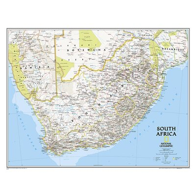 South Africa Classic Map by National Geographic Maps