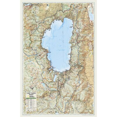 National Geographic Maps Lake Tahoe Poster Map