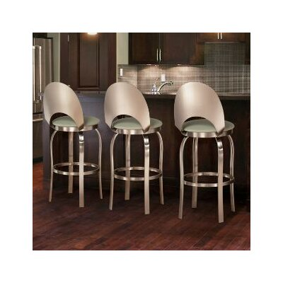Trica Champagne Swivel Bar Stool with Cushion