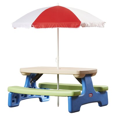 Easy Store Picnic Table with Umbrella by Little Tikes