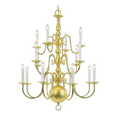 Williamsburgh 16 Light Chandelier by Livex Lighting