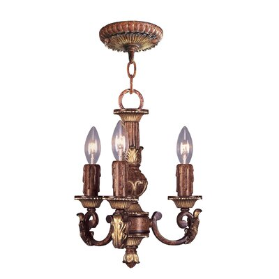 Villa Verona 3 Light Mini Chandelier Product Photo