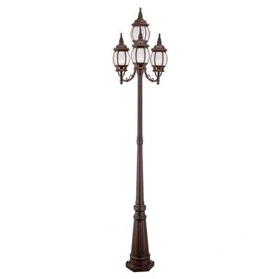 "Livex Lighting Frontenac 4 Light 93"" Outdoor Post Lantern Set"