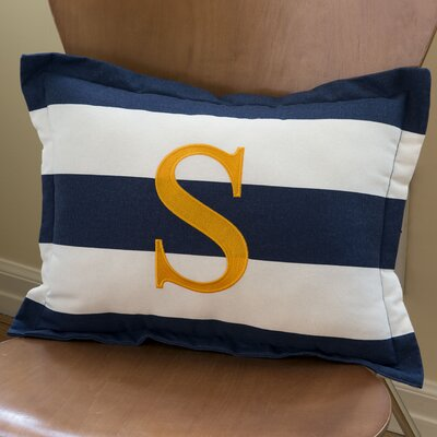 Sam Stripe Boudoir Pillow with Letter by Bebe Chic
