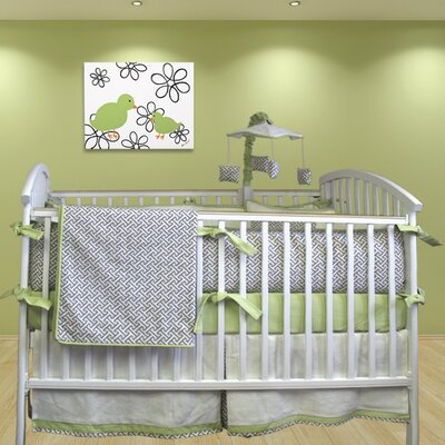 Bebe Chic Metro 5 Piece Crib Bedding Set with Mobile