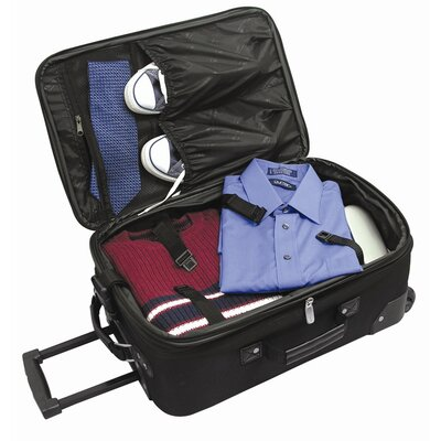 """Traveler's Choice Amsterdam 21"""" Expandable Rolling Carry - On in Burgundy"""