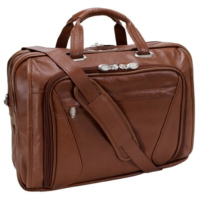 McKlein USA S Series Irving Park Leather Laptop Briefcase