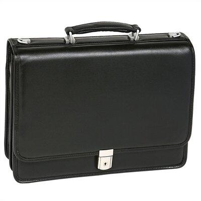 I Series Bucktown Leather Laptop Briefcase by McKlein USA