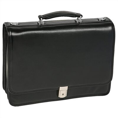 I Series River North Leather Laptop Briefcase by McKlein USA