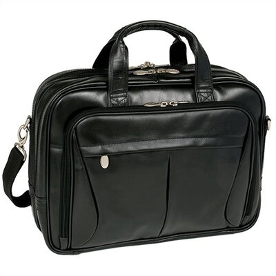 R Series Pearson Leather Laptop Briefcase by McKlein USA