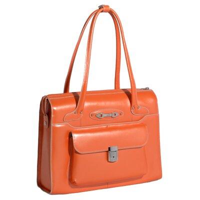 McKlein USA W Series Wenonah Leather Laptop Briefcase