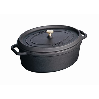 Oval .75 Qt Cocotte in Black by Staub