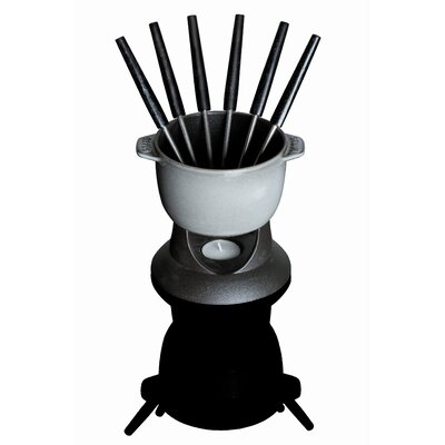 Small Fondue Set in Black by Staub