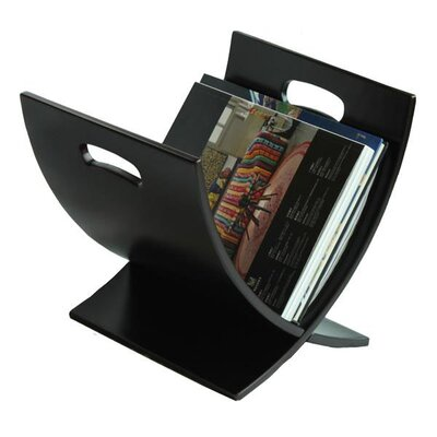 Oceanstar Design Contemporary Style Wooden Magazine Rack