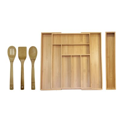 5 Piece Expandable Drawer Utensil Set by Oceanstar Design