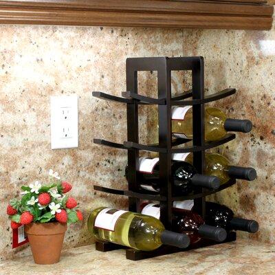 Oceanstar Design Bamboo 12 Bottle Tabletop Wine Rack