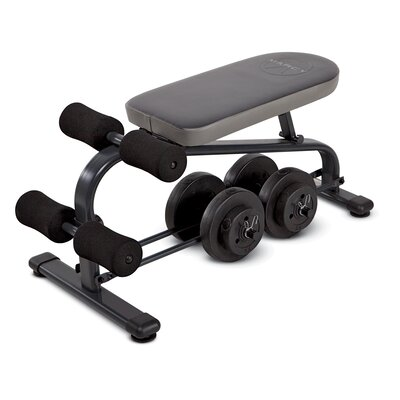Crunch Board Adjustable Ab Bench with 40 lb Vinyl Dumbbell Set by Marcy