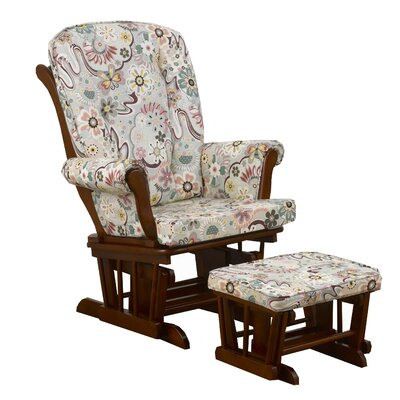 Penny Lane Floral Glider with Ottoman by Cotton Tale