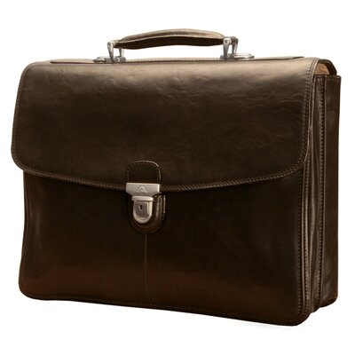 Tony Perotti Green Bella Russo Leather Laptop Briefcase