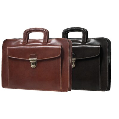 Tony Perotti Italico Arezzo Portfolio Leather Laptop Briefcase