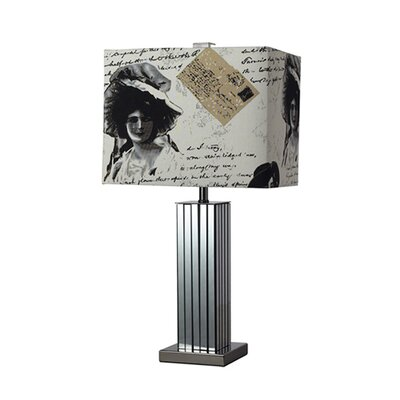 """Dimond Lighting Meade 21"""" H Table Lamp with Rectangular Shade"""