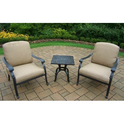 Hampton 3 Piece Deep Seating Group with Cushions by Oakland Living