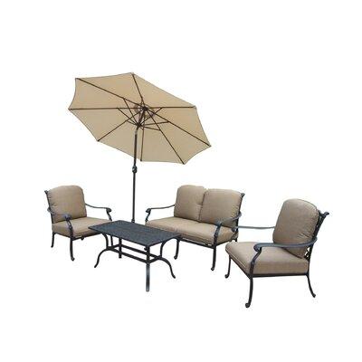 Oakland Living Hampton Chat Set with Umbrella