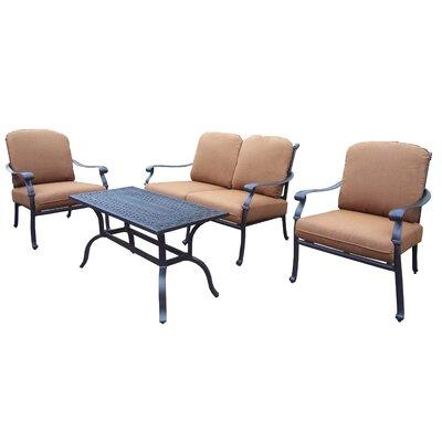 Oakland Living Hampton 4 Piece Deep Seating Group Set