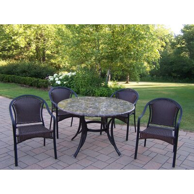 Oakland Living Stone Art Tuscany 5 Piece Dining Set