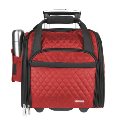 """Travelon 14"""" Rolling Underseat Quilted Microfiber Carry On"""