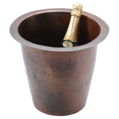 "12"" x 12"" Round Hammered Champagne Bar Sink Product Photo"