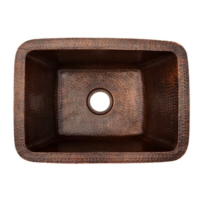 "17"" x 12"" Rectangle Copper Bar Sink Product Photo"