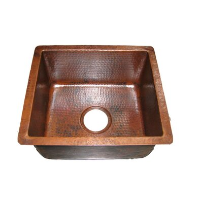 "16"" x 14"" Gourmet Rectangular Hammered Bar Sink Product Photo"