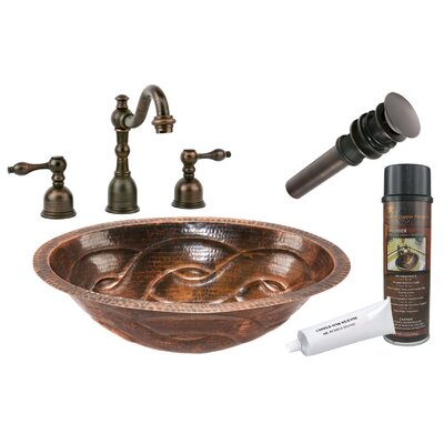 Braid Under Counter Hammered Bathroom Sink by Premier Copper Products