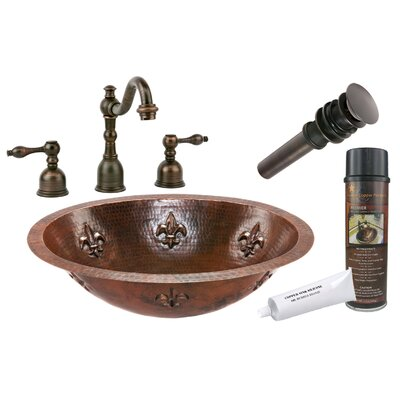 Fleur De Lis Under Counter Hammered Sink by Premier Copper Products