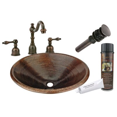 Master Bath Self Rimming Hammered Sink by Premier Copper Products