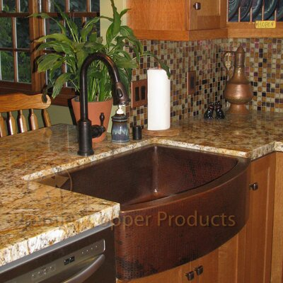 """33"""" x 24"""" Hammered Apron Kitchen Sink Product Photo"""