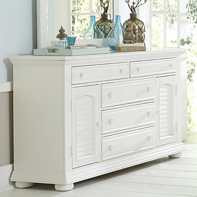 5 Drawer Combo Dresser with Mirror by Liberty Furniture