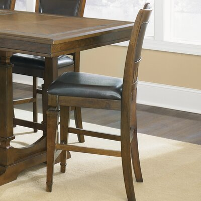 Sante Fe Upholstered Counter Height Chair in in Distressed Dark Rustic Oak by Liberty Furniture ...