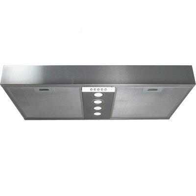 """Insert Series 34.25"""" 600 CFM Under Cabinet Range Hood in Stainless Steel Product Photo"""