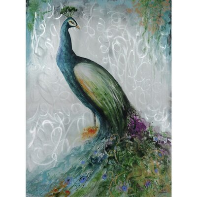 Confident Peacock Painting by Yosemite Home Decor