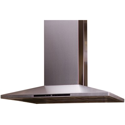 "Yosemite Home Decor Contemporary Series 35.5"" Wall Mount Range Hood"