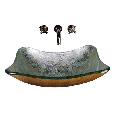 Yosemite Home Decor Square Glass Bathroom Sink