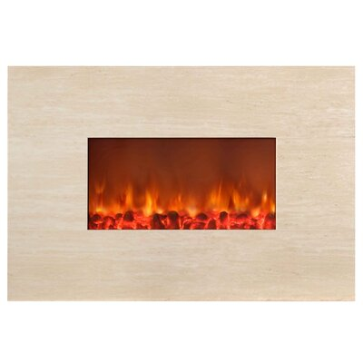Stone Wall Mounted Electric Fireplace by Yosemite Home Decor