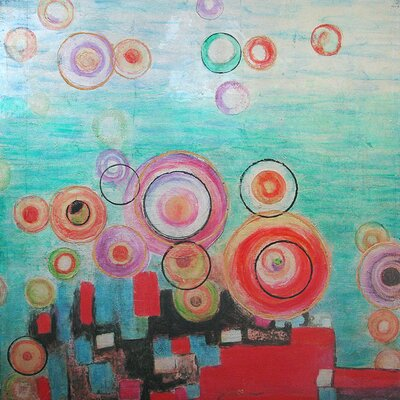 Revealed Art Bright Bubbles Original Painting on Wrapped Canvas by Yosemite Home Decor