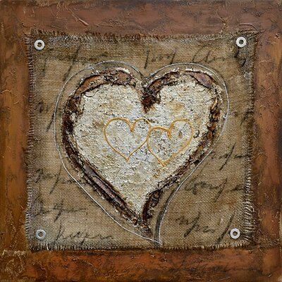 Revealed Art The Healing Heart III Original Painting on Wrapped Canvas by Yosemite Home Decor ...